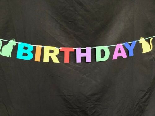 Twins Joint Birthday Party Bunting Banner Decoration 1st personalised Pink Blue