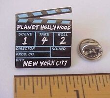PLANET HOLLYWOOD NEW YORK CITY MOTION PICTURE MOVIE CLAP BOARD PIN