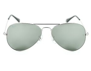 53032c1d809f7 Ray Ban RB3025 Aviator Classic W3275 Silver Frame  Grey Mirror Glass ...