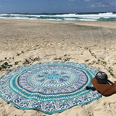 Indian Round Mandala Beach Throw Hippie Yoga Mat Towel Bohemian Tapestry Blanket