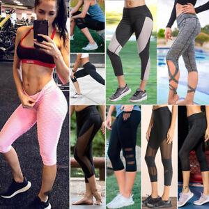 Womens-Capri-Sport-YOGA-Pants-Leggings-Workout-Running-Gym-Fitness-Active-Wear-7