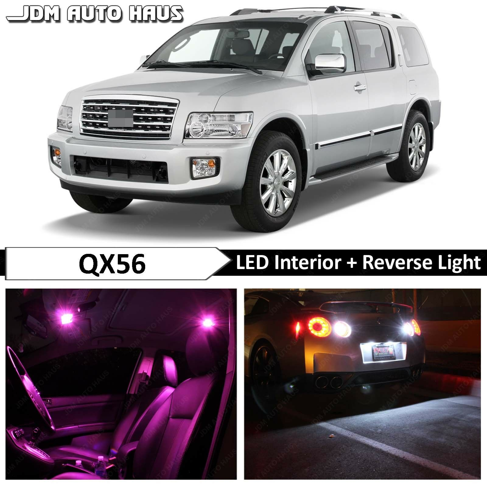 TOOL 18 x Ultra Blue Interior LED Lights Package For 2004-2010 Infiniti QX56