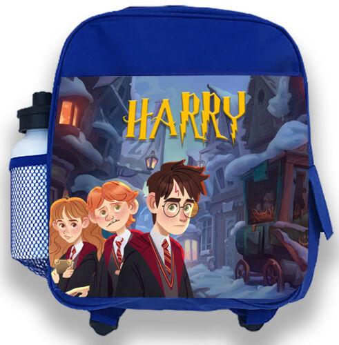 Personalised Kids Bleu Sac à dos tout nom Harry Potter Garçon Enfants Sac D/'école 1