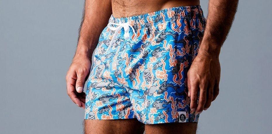 Frank Dandy Leo Lyxxx Fishy Swim Shorts 11106 - bluee