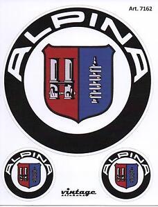 tris stickers logos emblems badge alpina x bmw e34 e36 e46. Black Bedroom Furniture Sets. Home Design Ideas
