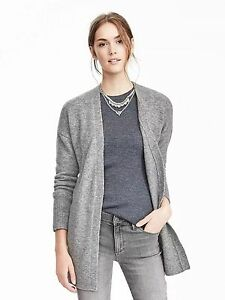 BANANA REPUBLIC WOMENS  AIRE PATCH POCKET CARDIGAN SWEATER TOP $98.00 L XL