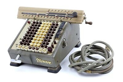 Vintage Monroe Matic Calculator Machine with Power Cord WORKS Calculating Adding