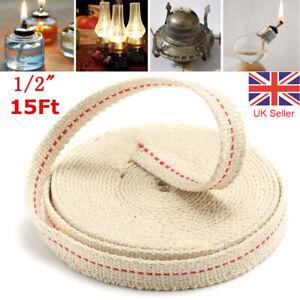 4 5m Long Flat Cotton Oil Lamp Lantern Wick 13mm For Kerosene Burner Lighting Uk Ebay