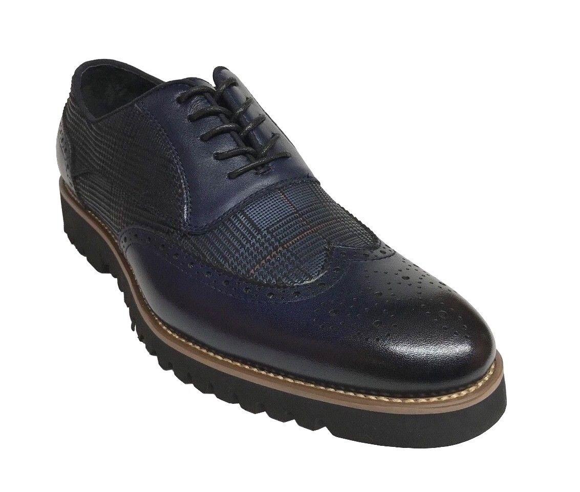 Stacy Adams Baxley Para hombres Zapatos Oxford Wing Tip Tinta Azul 25217-403