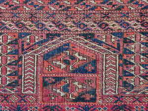 ANTIQUE-Turkmenistan-Tekke-namazlik-gebets-teppich-prayer-rug-Tapis-Tapis