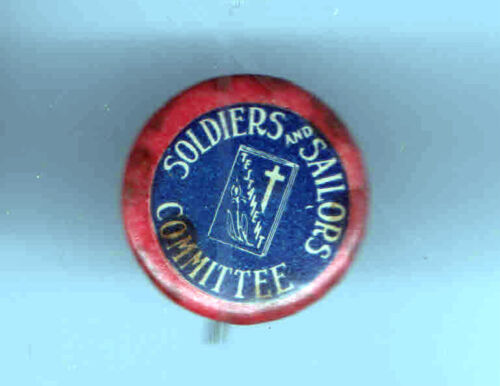 1918 pin WWI HOMEFRONT pinback WELCOME Committe SOLDIERS SAILORS Veterans #2