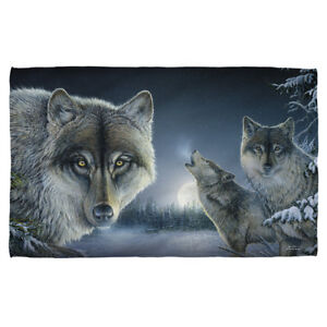 Wild Wings Art Wolves Wolf Pack TWILIGHT HUNTERS Lightweight Beach Towel