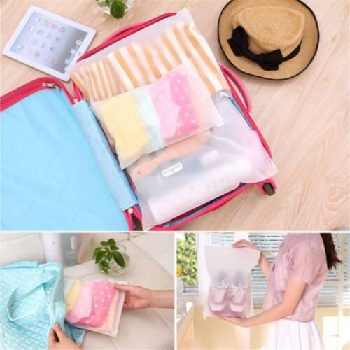 5Pcs//Set Multifunctional Zip Bag Storage Portable Organizer Travel Bag IT