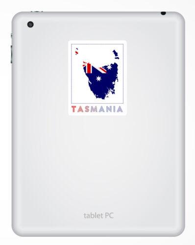 Fun Sticker Laptop Luggage #33011 2 x 10cm Tasmania Australia Vinyl Stickers