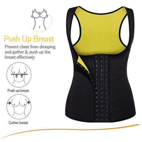 Details about  /Fajas Colombianas Reductoras Abdomen Estilo Mejor Sauna Sweat Vest Yoga Shaper