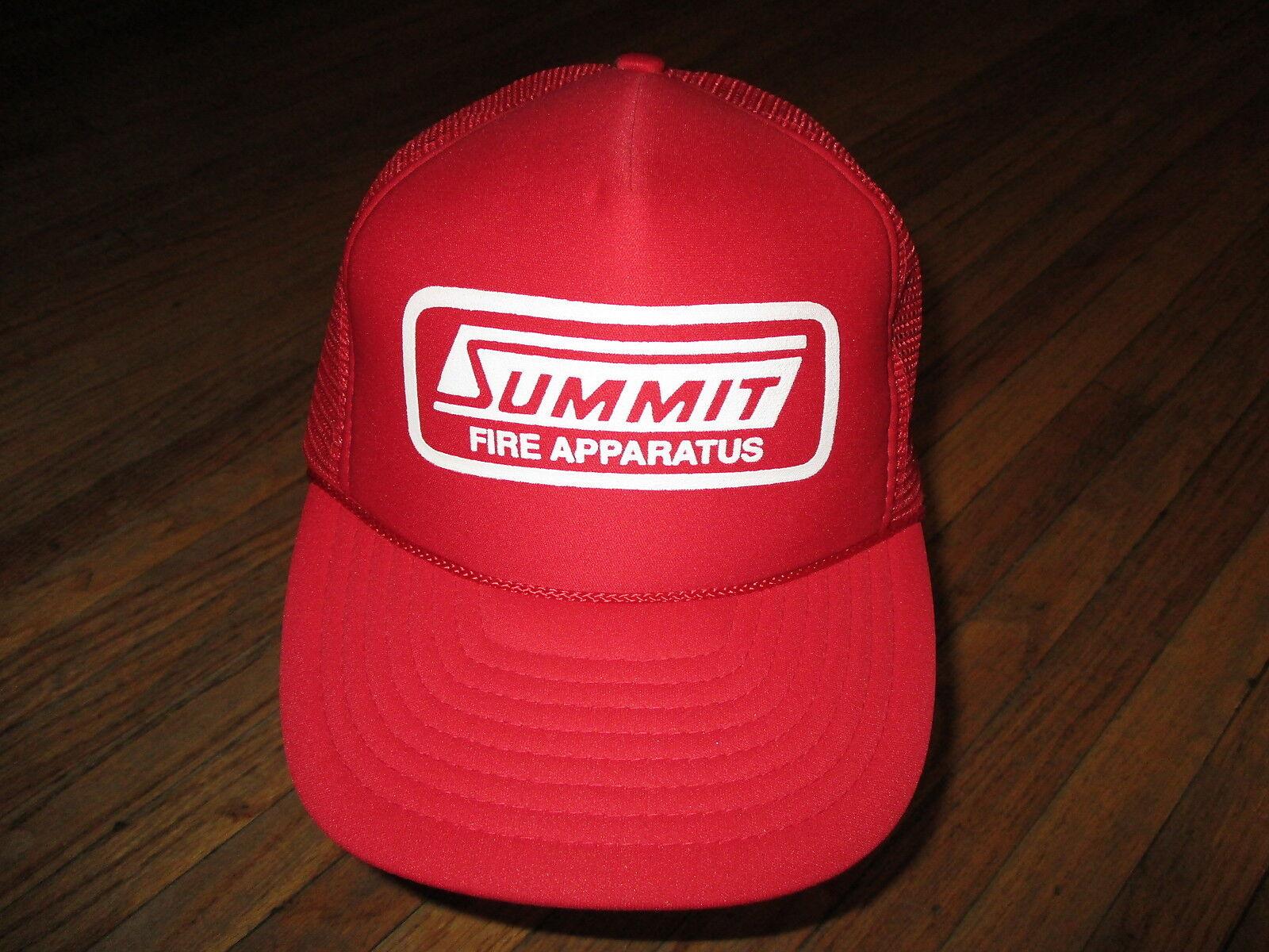 Gipfel Fire Apparatus Hut Meshback Trucker Snapback Rot Co Vtg Nummern
