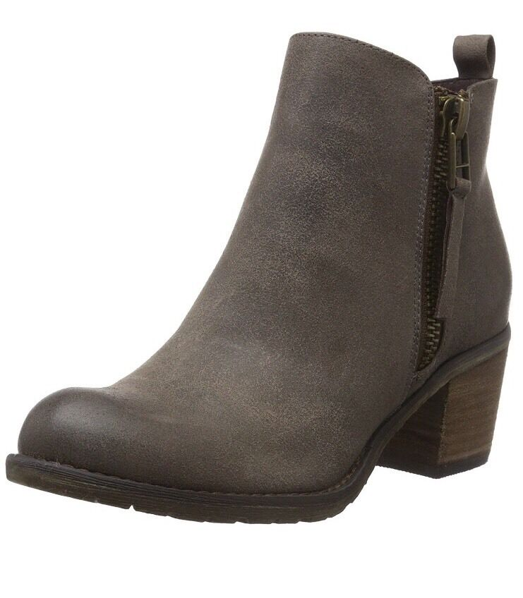 Buffalo para mujer botas al Tobillo PU B241F-42 P2066C gris-gris (gris Pardo 01)