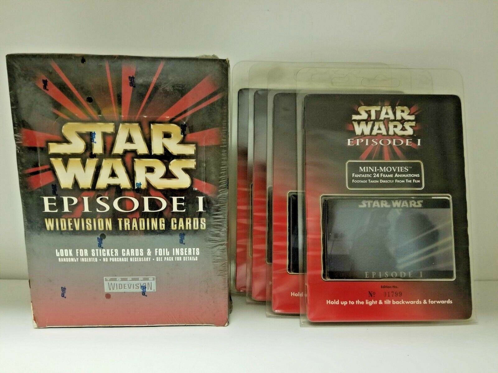 2019 Lot Of 2 Star Wars Topps Promo Cards /& 1 Sticker