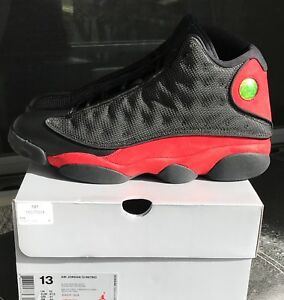 sneakers for cheap bcb7f 1e43c Details about Mens Air Jordan Retro 13 XIII Red and black size 13 mens