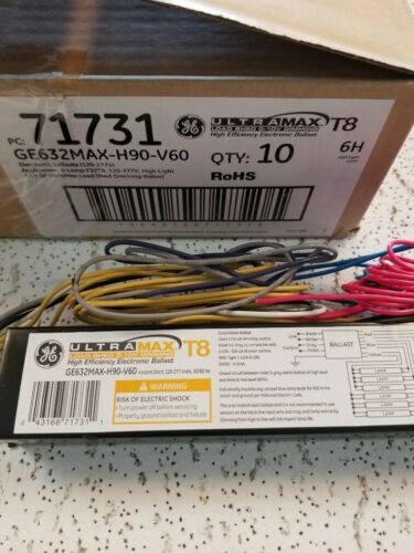 6 lamp Ballast T8 Dimming 71731 GE632MAX-H90-V60