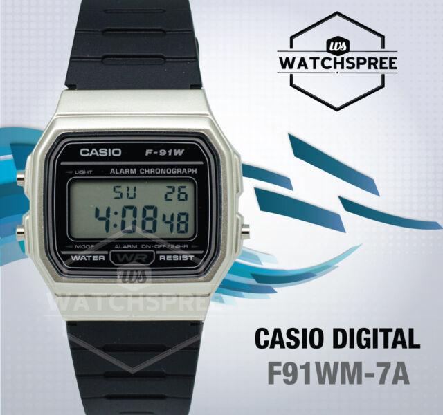 9a3d3b6cc4a4 Casio Vintage F-91wm-7a F91wm Quartz Digital Alarm Chronograph Mens Casual  Watch