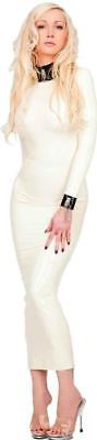 Gehorsam Westward Bound Ariadne Latex Hobble Dress Warm White With Black Trim SchöNer Auftritt