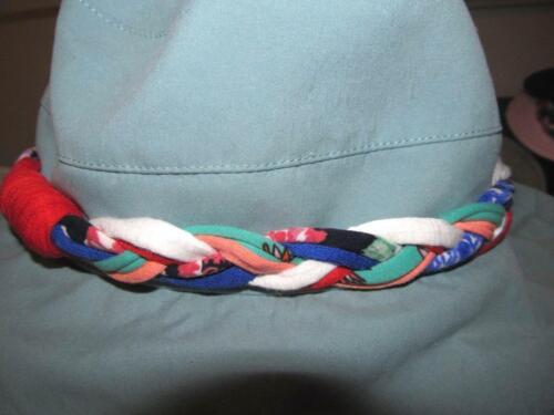 Braided HAT BAND Straw Bucket Wallaroo Beach Derby Cowboy Colorful