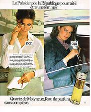 PUBLICITE ADVERTISING 034   1978   MOLYNEUX  parfum  QUARTZ