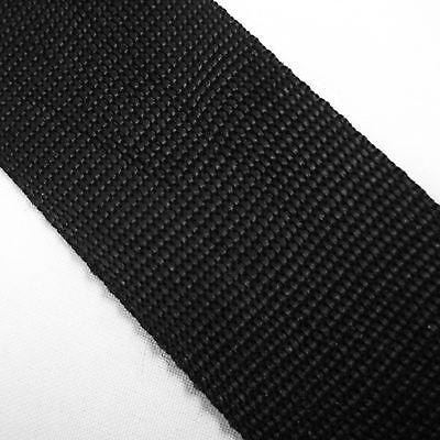 FREE P/&P 5 METRES 2 INCH 50MM BLACK POLYPROPYLENE PLAIN WEAVE STRAP WEBBING