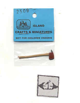 Hammer Claw Finish 1//12 scale dollhouse metal miniature tool ISL0101