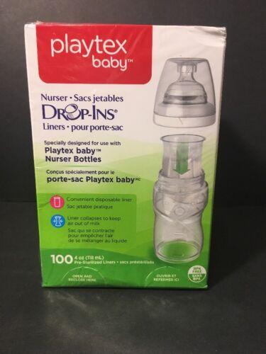 Playtex Drop-Ins Liners for Playtex Nurser Bottles 100ct 4oz 5761