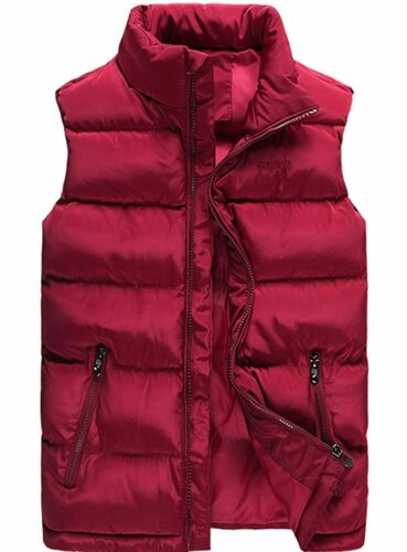 XinYangNi Men/'s Down Vest Winter Casual Work Sports Travel Outdoor Padded Puffer