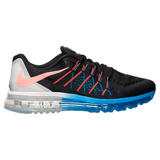 Nike Air Max 2015 Mens 698902-008 Black Blue Lava Mesh Running Shoes Size 8  for sale online  e22241a885e1