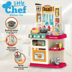 NEW Kitchen Playset For Girls and Boys Pretend Play Toy Cooking Set Toddler Kids