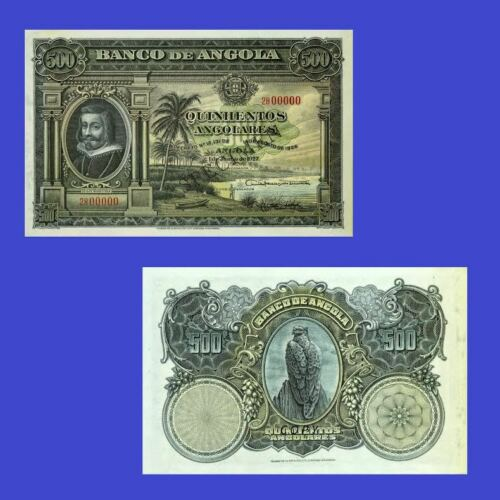 Angola 500 Angolares 1927 Reproduction UNC