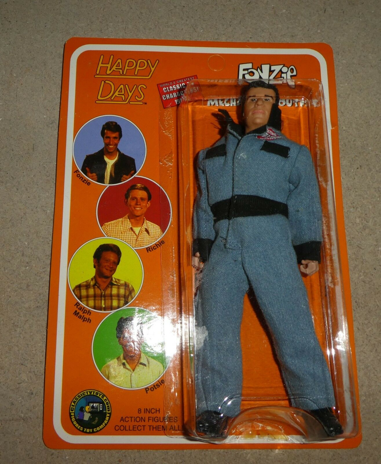 Happy Days Mego Style The Fonz Figure Figure Figure toy co Brand new eonzie 56b2d0
