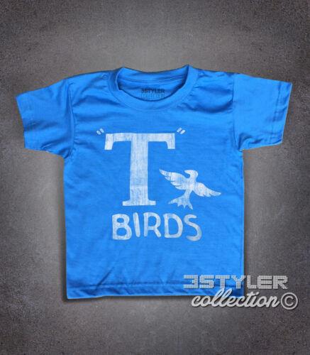 T-shirt bambino T-BIRDS ispirata a GREASE JOHN TRAVOLTA DANNY ZUCO SANDY