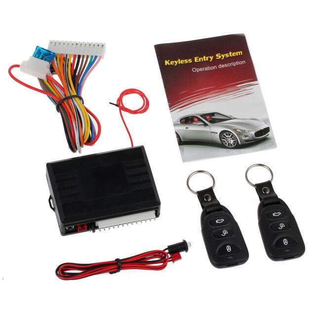 Universal Vehicle Car Door Keyless Lock Remote Central Kit 12v Entry on