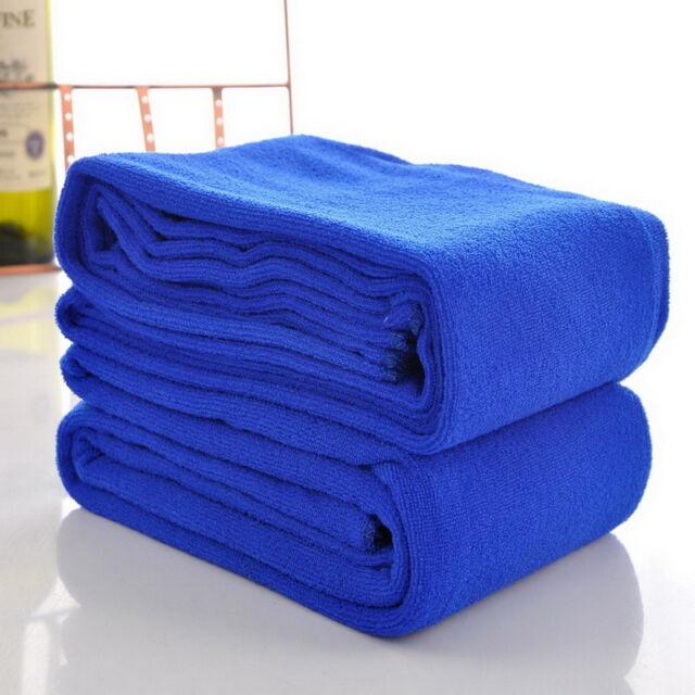 Microfaser Kuschelweich Schnell Trocknet Badetuch Duschtuch Saunatuch Blau FL