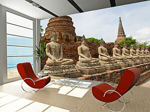 Photo Wallpaper Ancient Buddha Statue GIANT WALL DECOR PAPER POSTER ...