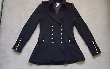 Cache wool black double-breasted military fashion coat jacket,sold out, size XS