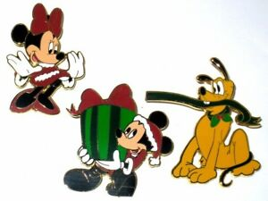 LE-Disney-Pin-Set-Holiday-Christmas-Tree-Mickey-Minnie-Mouse-Pluto-Present-Gift