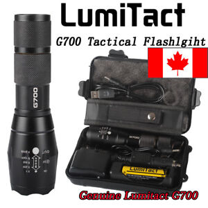 CA-8000lm-Genuine-Lumitact-G700-Tactical-Flashlight-Military-Grade-Torch-battery