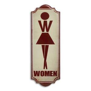 9973930-x Retro Vintage Tin Sign Wc Toilet Woman 35, 5x12, 5cm