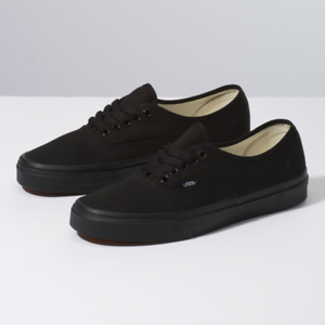 New-Men-amp-Women-Vans-New-Authentic-All-Black-Era-Classic-Sneakers-Canvas-Shoes