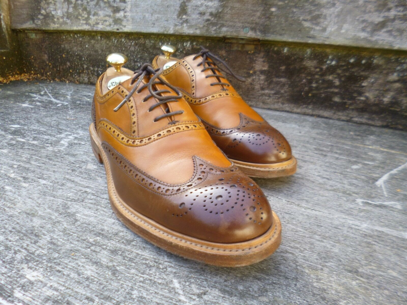 CHEANEY / BROWN CHURCH CORRESPONDENT BROGUE – BROWN / / TAN  – UK 6.5 – EXCELLENT COND 8f92d4