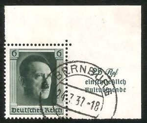 DR-Nazi-3rd-Reich-RARE-WW2-STAMP-Hitler-Head-Fuhrer-Block-039-9-Hitler-039-s-Birthday
