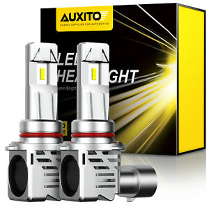 Pair-AUXITO-9005-HB3-LED-High-Beam-Headlight-White-6500K-200W-24000LM-Bulbs-Kit