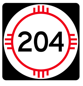 New Mexico State Road 204 Sticker R4166 Highway Sign Road Sign Decal