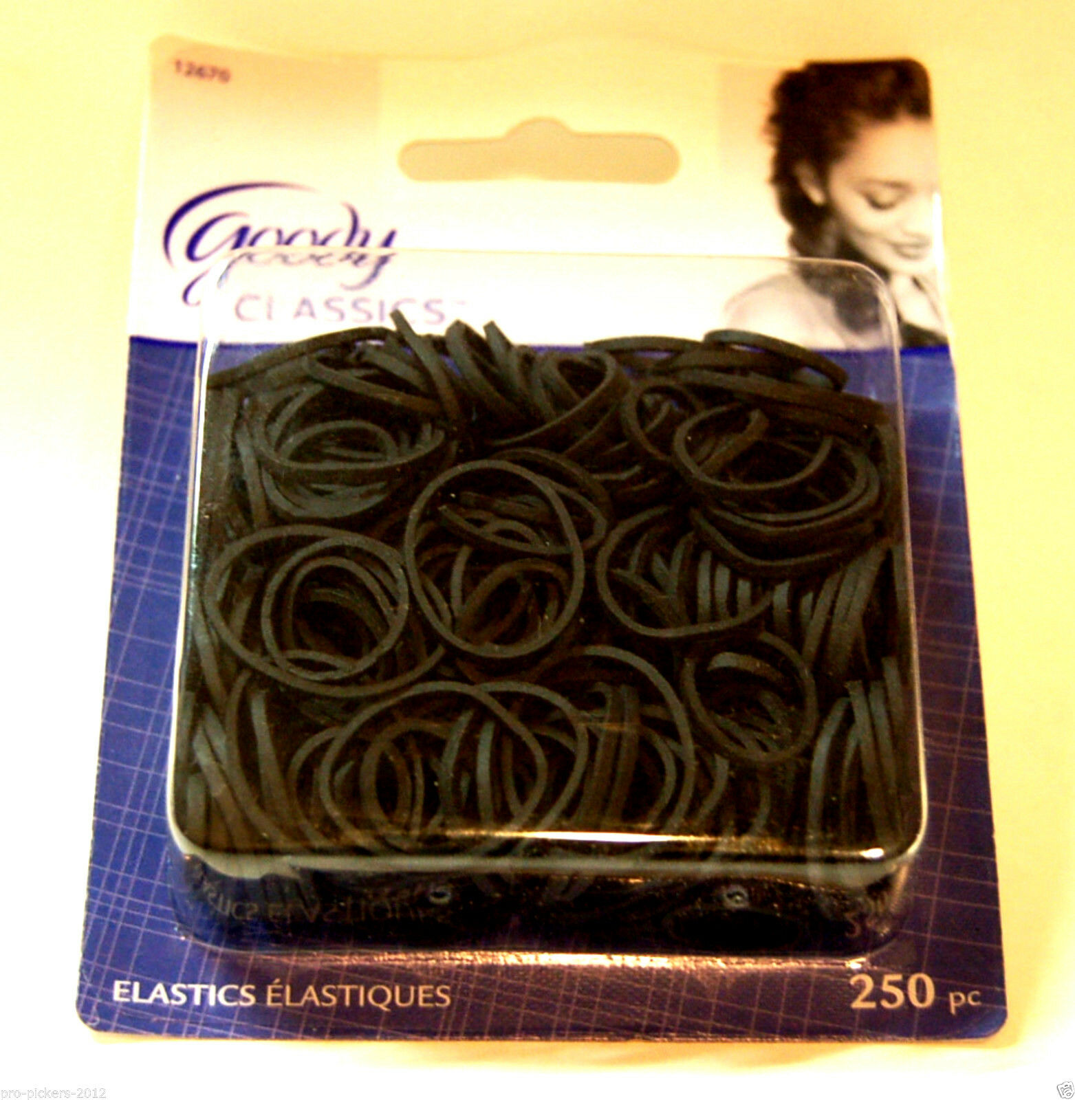 x500 Multi-use Small Black Rubberbands Hair Elastic Bands